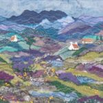 """""""A Walk in the Hills"""", textile, SOLD"""
