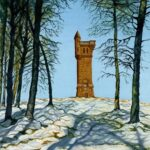 """Airlie Monument"", watercolour, 56x45cm framed - Signed Giclee prints available"