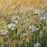 """""""Barleyfield"""", watercolour, SOLD"""