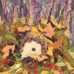 """""""Blanket of Leaves"""", textile, 42x42cm framed SOLD"""