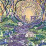 """""""Bluebell Wood"""", textile, 37x32cm framed"""