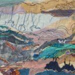 """""""Coast"""", textile, 32x49cm framed"""