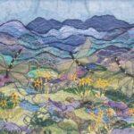 """""""Dragonflies"""", textile, SOLD"""