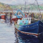 Fishing Boats, Gairloch, watercolour, SOLD; prints available