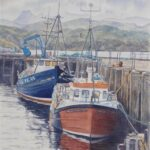 Gairloch Harbour II ,watercolour, SOLD; prints available
