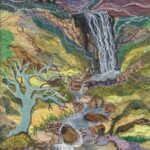 """""""Highland Glen"""", textile, 46x34cm framed, SOLD"""