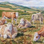 """Lazy Afternoon in the Angus Glens"", oil, 43x57cm framed, SOLD"