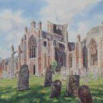 """""""Melrose Abbey II"""", watercolour, 55x71cm framed"""