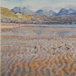 Ripples, Sand Beach, Gairloch, watercolour, SOLD; prints available