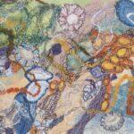 """""""Rock Pool"""", textile, 31x37cm framed SOLD"""