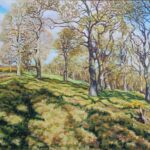 """Spring Morning on Hayston Hill, Angus"", oil, 48x59cm framed"