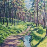 """Woodland Walk"", pastel, 56x45cm framed"